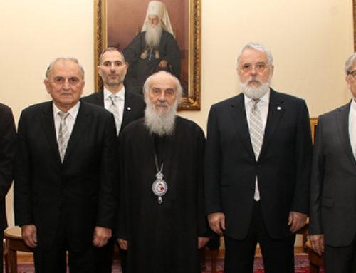 Председништво Друштва на пријему код Патријарха српског